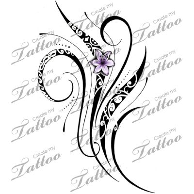 Marketplace Tattoo Feminine Polynesian Tattoo #20972 | CreateMyTattoo.com