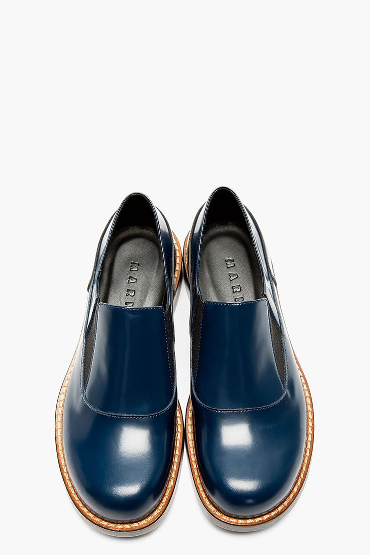 MARNI Blue Leather Loafers                                                                                                                                                                                 More