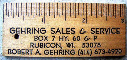 Desain Kartu Nama Unik tidak Biasa | ruler paper business card