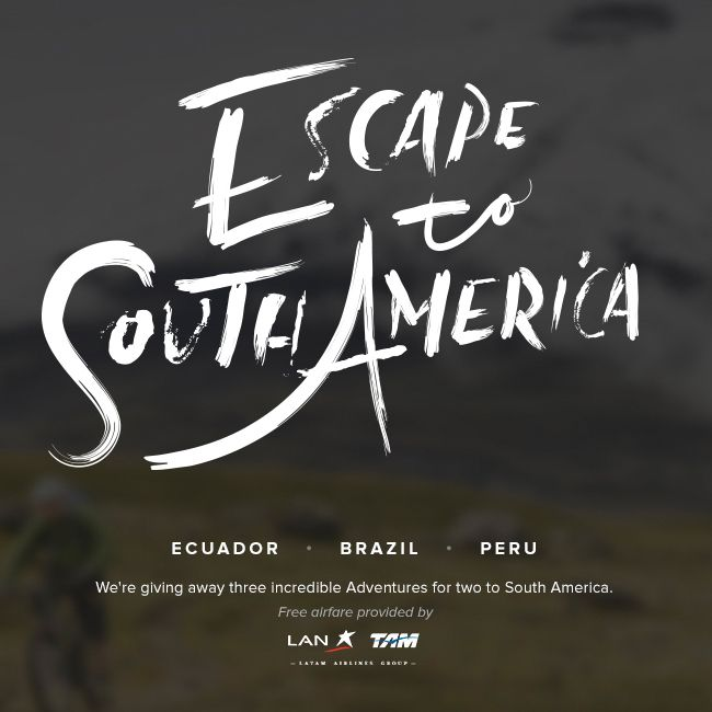 Ecuador, here I come! I just entered to win a South American adventure, and you can too: http://bit.ly/EscSAm