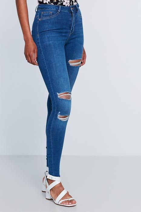 Molly destroyed jeans 399.00 NOK, High waist jeans - Gina Tricot  Str.M