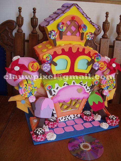 Mini casa de doces by vintage studio artes pl sticas e e - Casa de goma eva ...