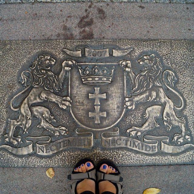 #Gdańsk #herb #patrzpodnogi #igerspoland #igersgdansk #stopy #feet #sandały #asia3city