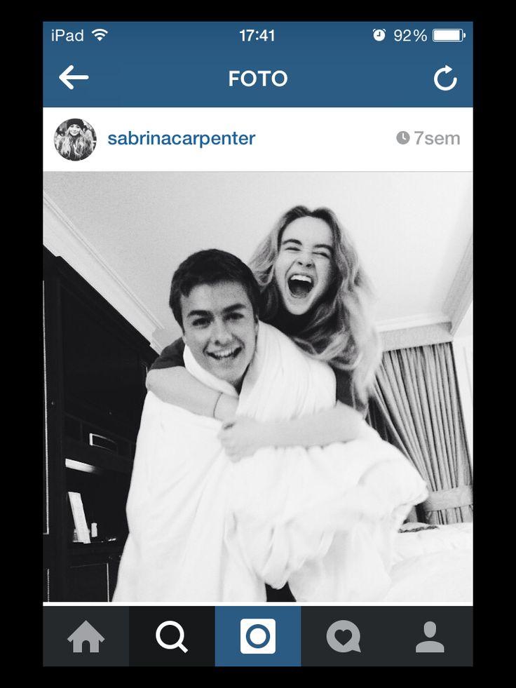 sabrina carpenter and peyton meyer!!