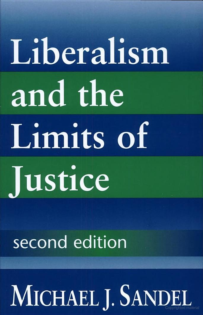 Liberalism and the Limits of Justice - Michael J. Sandel - Google Books