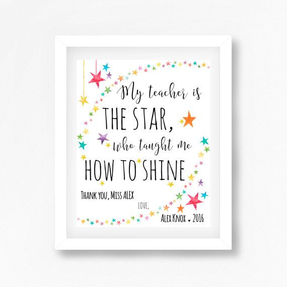 Daycare Teacher Gift End of Year Teacher by PerfectLittlePrints