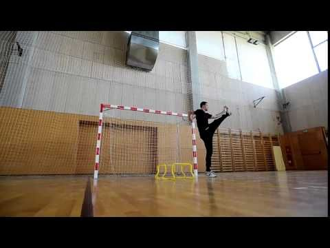 Handball goalkeeper drill - YouTube