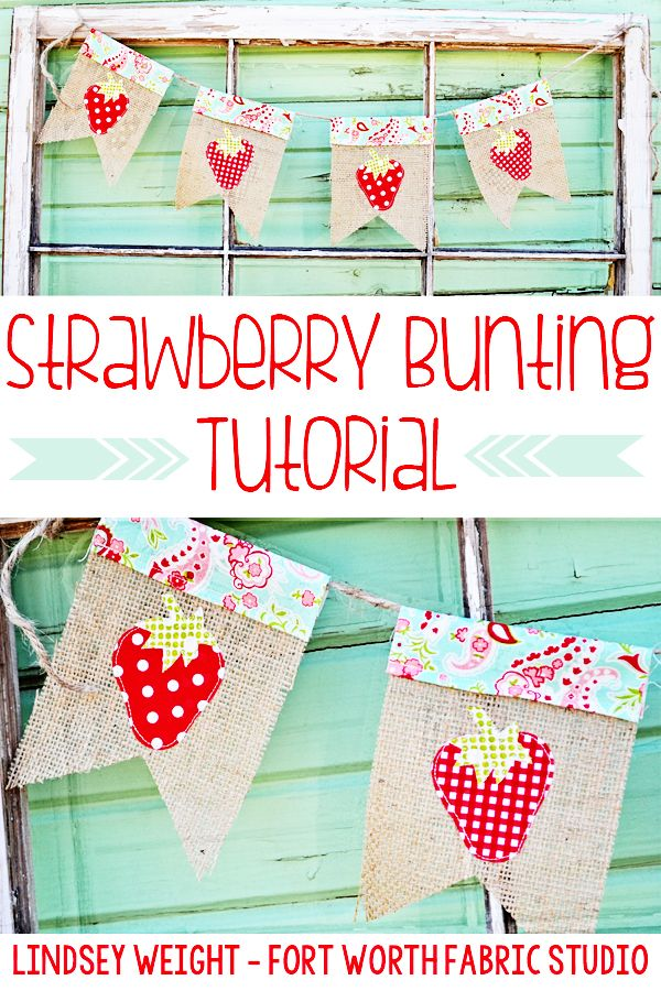 Strawberry Bunting Tutorial