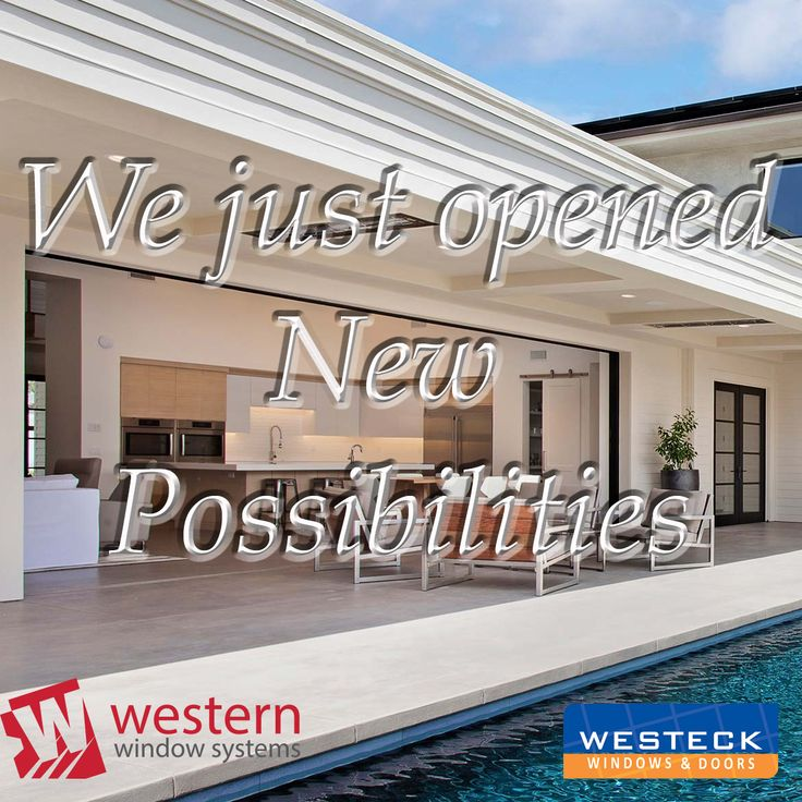 We just opened up even more possibilities thanks to a new partnership with Western Window Systems. Email us at sales@westeckwindows.com for more information!