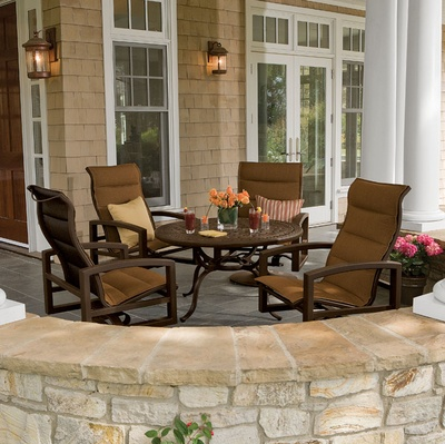 Lakeside Padded Sling Patio Furniture By Tropitone