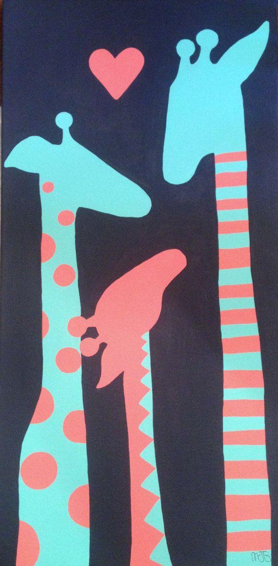 Giraffe Love on Etsy, $60.00