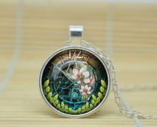 10 шт. стимпанк часы ожерелье часы в стиле стимпанк кулон стимпанк часы ретро ожерелья стекло кабошон ожерелье A1108(China (Mainland))