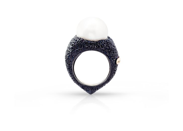 Anello argento brunito,anello oro,anello perla,anello per donna,anello rubino,anello regalo,regalo nozze,regalo fidanzamento di Modellart su Etsy