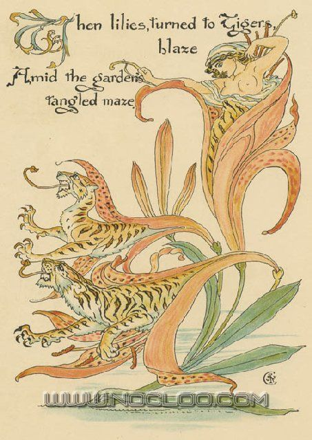 Walter Crane - Flora's Feast: A Masque of Flowers - no.38 Tiger Lilies