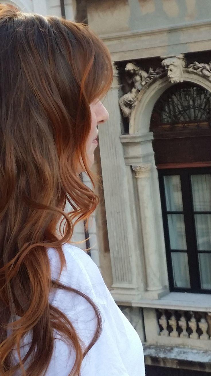 La nostra cliente Francesca Radin fresca-fresca di un bellissimo colore caramello #parrucchiere #trieste #hair