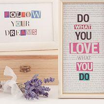 DIY Home-Deko: Bilder mit Motivations-Sprüchen aus Zeitungspapier