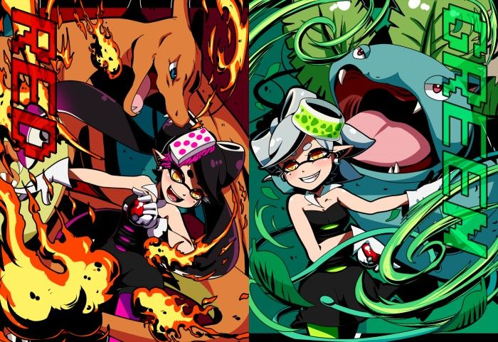 SPLATOON : Pokemon version rouge contre version bleue au Splasfest