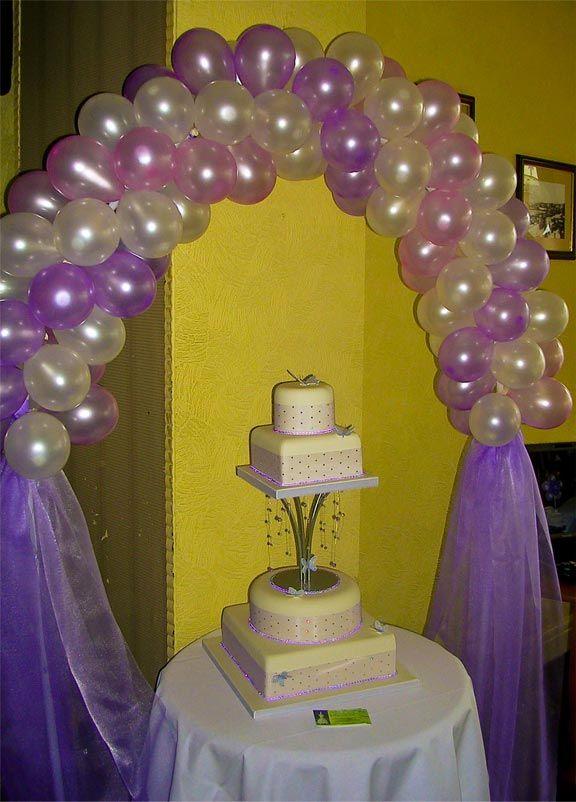 Ideas for balloon decor - spiral arch