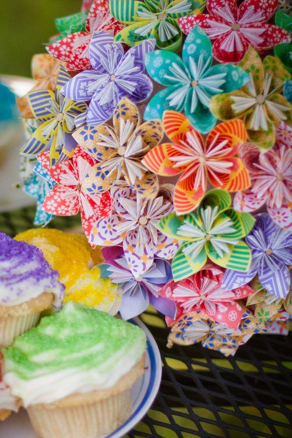 DIY : mon bouquet de mariée tout en origami - Do It Yourself, Idées de