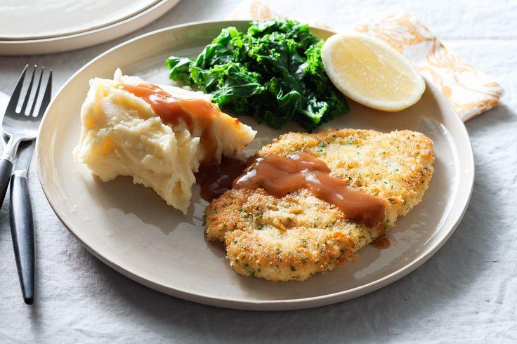 Parmesan and Herb Chicken Schnitzel