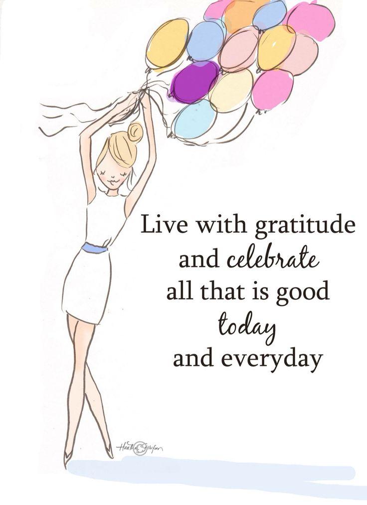 Wall Art for Women - Live With Gratitude- Wall Art Print - Digital Art Print…