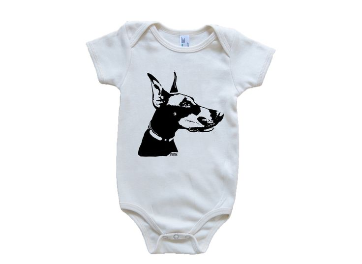 Doberman Pinscher Organic Baby Clothes, Doberman Organic Baby Shirt, Eco Friendly Baby Clothing, Organic Toddler Clothes, Dog Baby Clothes by MONOFACESoCHILDREN on Etsy