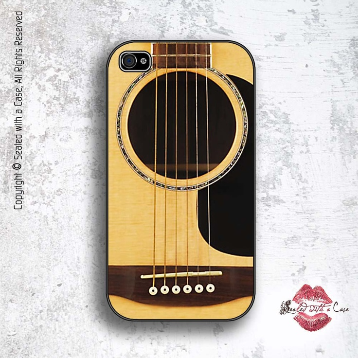 Guitar - iPhone 4 Case, iPhone 4s Case and iPhone 5 case. $17.99, via Etsy.