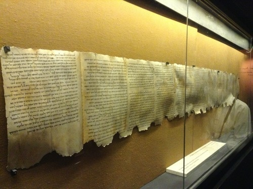 The Dead Sea Scrolls are a collection of 972 texts discovered between 1946 and 1956 that consist of biblical manuscripts from what is now known as the Hebrew Bible and extra-biblical documents found on the northwest shore of the Dead Sea, from which they derive their name.