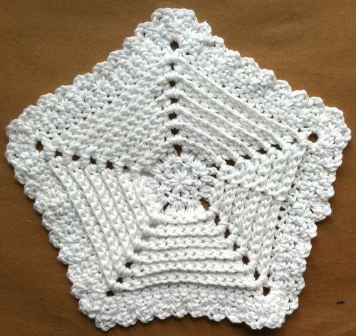 Reversible Five-Sided Crochet Dishcloth