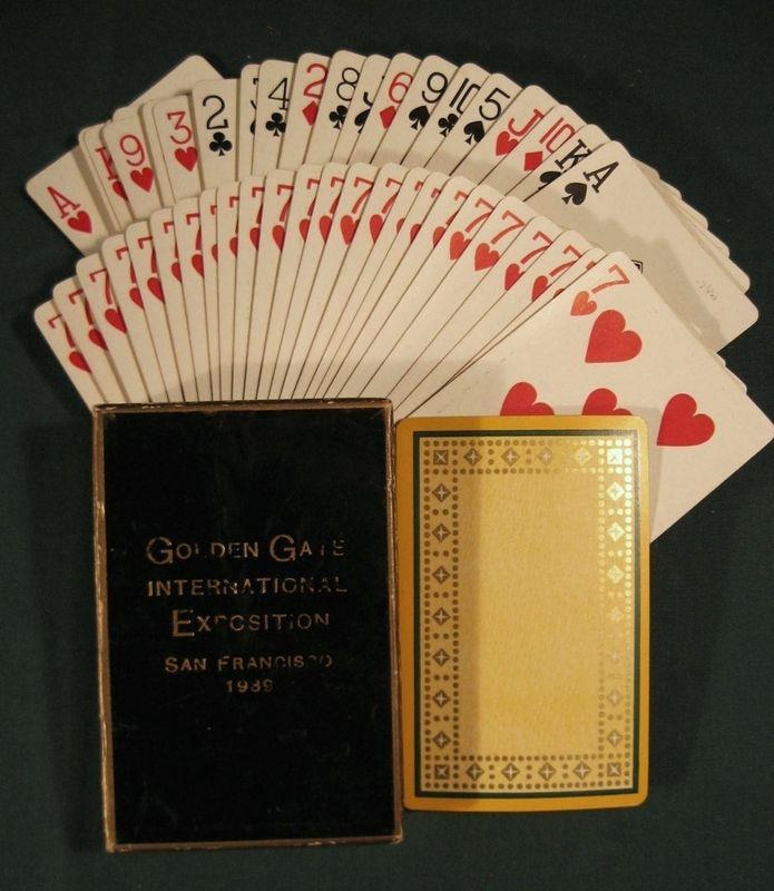 This Svengali deck is one that pitchmen sold at the Golden Gate International Exposition that took place in San Francisco from 1939 - 1940. This deck sold for a dollar in 1939. Check the next pic for an example from 1940.