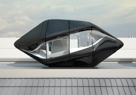 """Nau Architects Unveil Self-Sustaining """"Living Roof"""" Pod Home Concept 