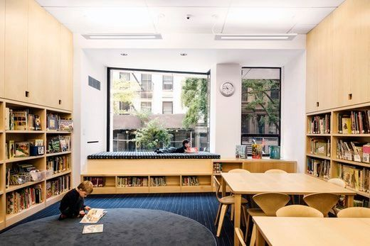 The new entry presents a welcoming face to Rodeph Sholom Lower School, drawing in the school community and providing neighbors with a lens into the life of t...
