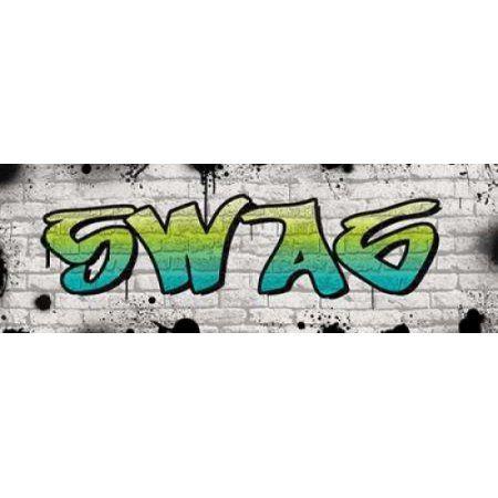 Swag Graffiti Canvas Art - N Harbick (8 x 24)