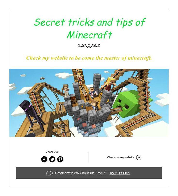 Minecraft Creative Tips Tricks: Secret Tricks And Tips Of Minecraft