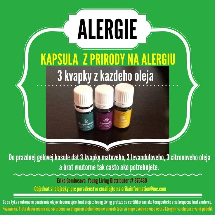 Ak máte alergie a chcete sa ich zbaviť prírodným sposobom tu je jednoduchý recept.Ak nemáte prázdne kapsule tak možeťe oleje dať do trochu vody s medom a vypiť ich