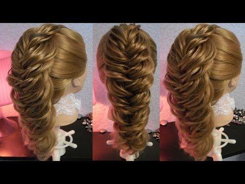 Ажурная круглая коса - YouTube