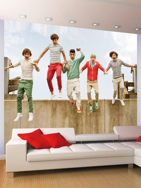 Brand New - One Direction Jump Design Wall Mural - 1D Official 1D merchandise - Great range of matching duvet covers and bedding!