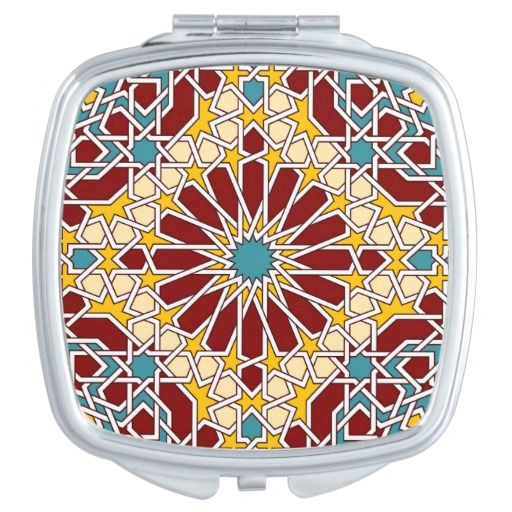 Islamic geometric pattern vanity mirror