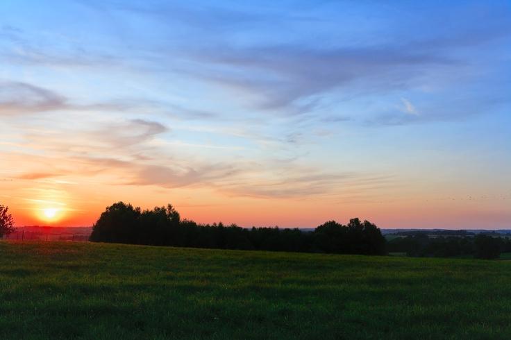 Un bel tramonto visto dalla campagna di San Giovanni in Persiceto