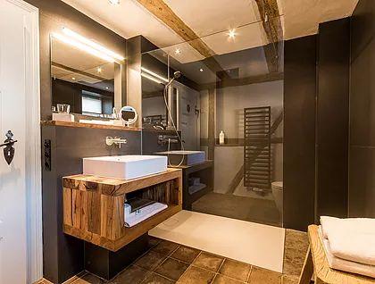 Badezimmer eckschrank ~ Die besten 25 waschtisch holz massiv rustikal ideen auf pinterest