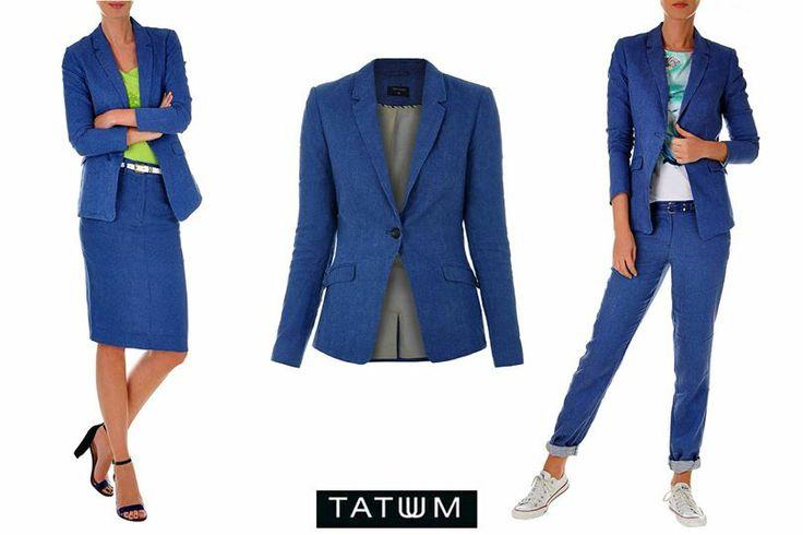 Skirt or trousers?  żakiet: http://bit.ly/1dwczwU spódnica:http://bit.ly/1he9cWr spodnie: http://bit.ly/1i9Ehga  #denim #blazer