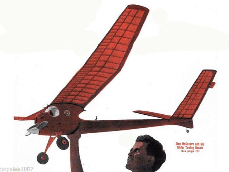 "Model Airplane Plans FF Class D 78"" Fright 72"" Flea Towline Glider 2 Plans | eBay"