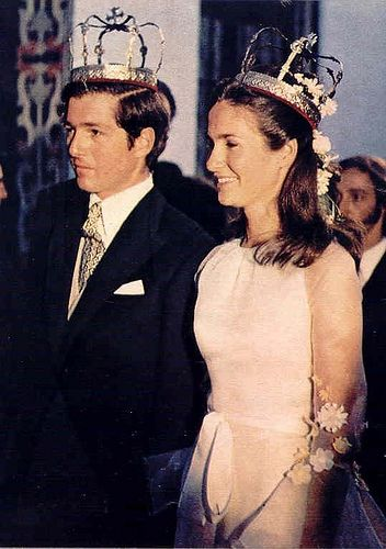 1972, Villamanrique de la Condesa, Sevilla. Wedding of Crown Prince Alexander of Yugoslavia and Princess Maria da Glória of Orlèans-Bragança.