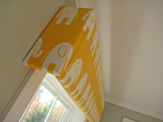 DIY Nursery Cornices nursery baby room ideas. Cute!