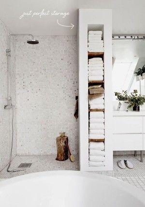 Perfect bathroom storage