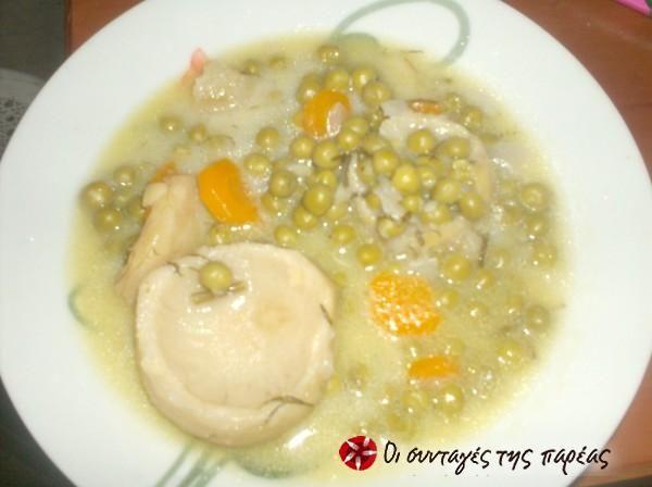 Αγκινάρες με αρακά // Artichokes with peas, carrots and potatoes