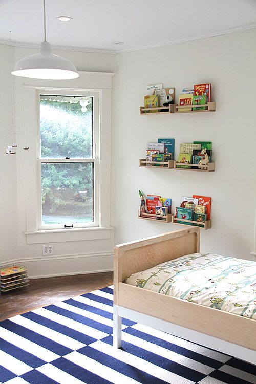 Boys room spice rack book shelves