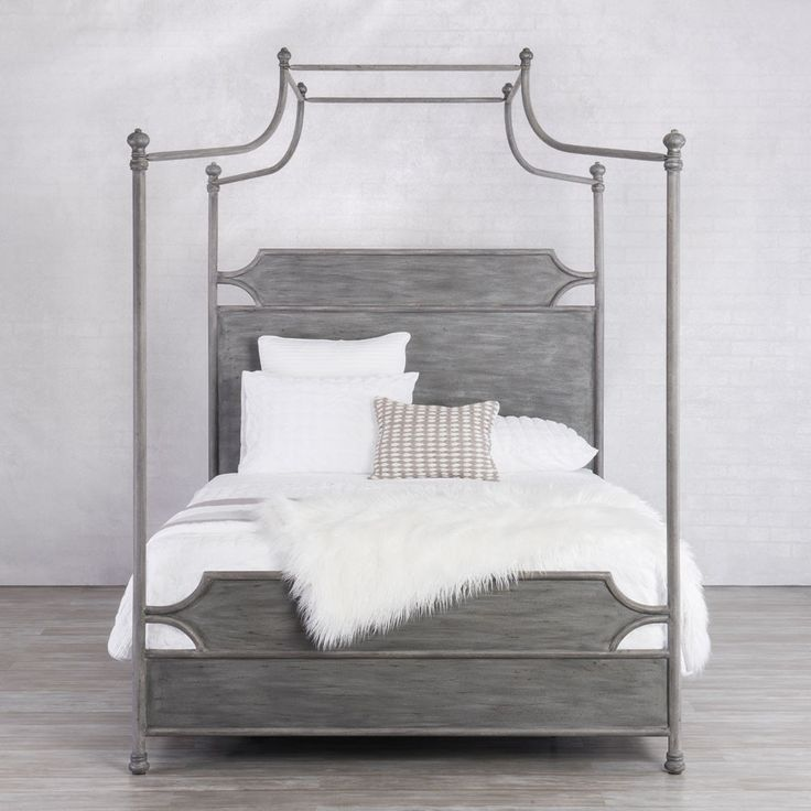 Wesley Allen Lansing Iron Canopy Bed with Surround by Humble Abode, available in dozens of colors. This award winning iron canopy bed design combines the rich and beautiful heritage of a canopy bed with an updated appeal. Choose from dozens of iron finish colors and this hand made metal canopy bed will be made in the USA specifically for you.