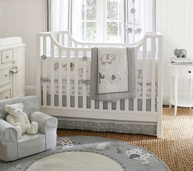 If you want to consider a crib without high back this is cute and similar price- could open up more possibilities for layout- Hayden Crib #pbkids