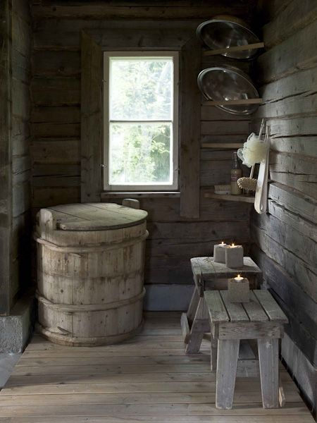 beautiful rustic sauna...idea's for ours